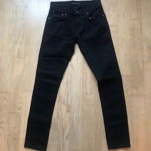 Nudie Jeans in Tight Terry Deep Black 30x32